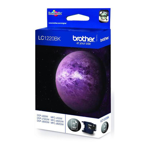 Картридж BROTHER LC1220BK черный картридж brother lc1220bk для dcp j525w mfc j430w j825dw чёрный