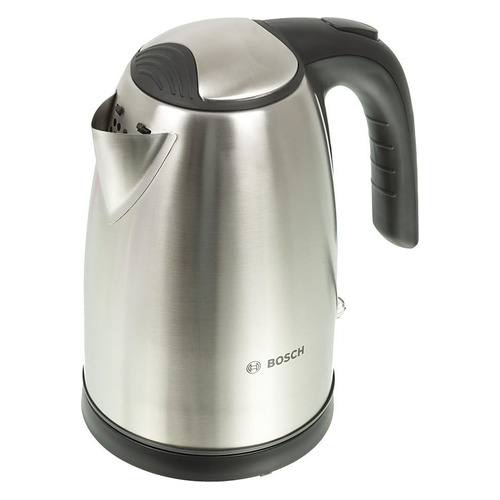 Чайник электрический BOSCH TWK7801, 2200Вт, серебристый и черный чайники электрические bosch чайник bosch twk7801 1 7л 2200вт