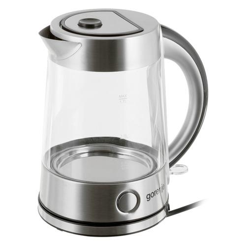 Чайник электрический GORENJE K17G, 2200Вт, серебристый цена и фото