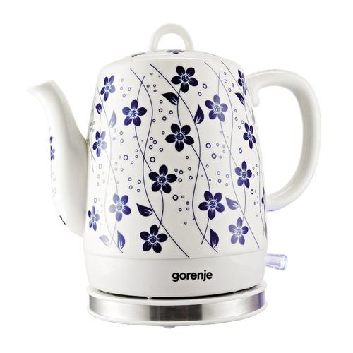Чайник электрический GORENJE K10C, 1630Вт, белый цена и фото