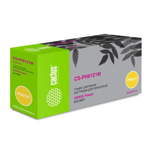 Картридж CACTUS CS-PH6121M, 106R01474, пурпурный тонер картридж cactus cs ph6121m 106r01474 для xerox phaser 6121 6121mfp 6121mfpd пурпурный