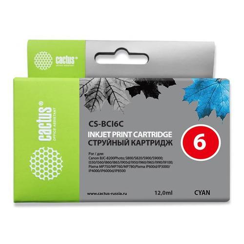 Картридж CACTUS CS-BCI6C, голубой цены онлайн