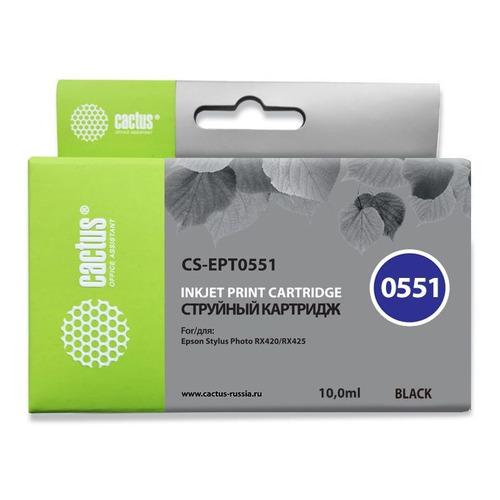 цена на Картридж CACTUS CS-EPT0551, черный