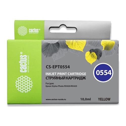 Картридж CACTUS CS-EPT0554, желтый цена
