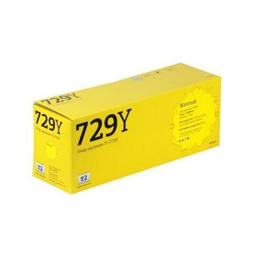 Картридж T2 TC-C729Y (729Y), желтый t2 tc c729y