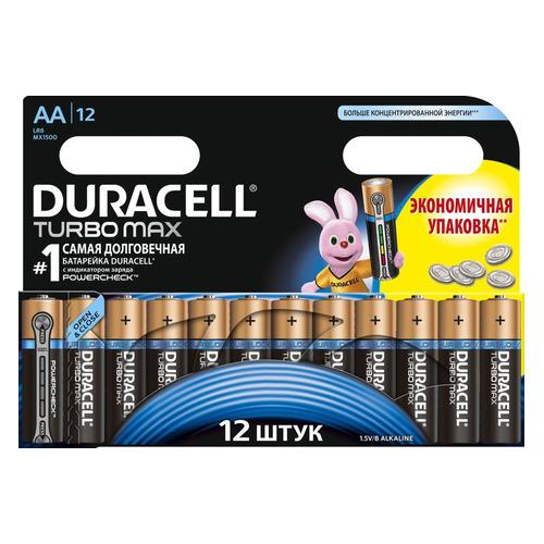 AA Батарейка DURACELL Turbo MAX LR6-12BL, 12 шт. цена и фото
