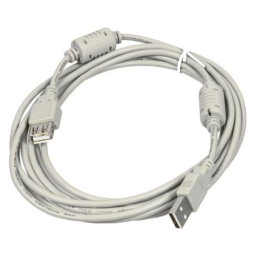 Фото - Кабель-удлинитель USB2.0 USB A(m) - USB A(f), ферритовый фильтр , 3м, серый [744792] кабель