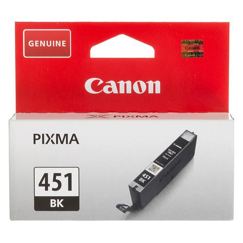 Картридж CANON CLI-451BK, черный [6523b001] картридж canon cli 451bk 6523b001 для canon pixma ip7240 mg6340 mg5440 черный