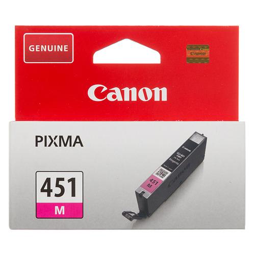 Фото - Картридж CANON CLI-451M, пурпурный [6525b001] картридж canon cli 451m xl для mg6340 mg5440 ip7240 пурпурный 660 страниц