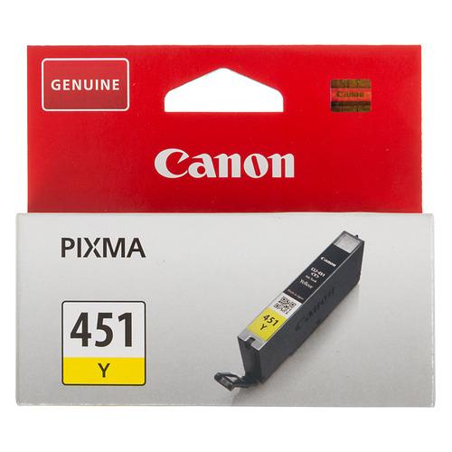 Картридж CANON CLI-451Y, желтый [6526b001] картридж canon cli 451y 6526b001 для canon pixma ip7240 mg6340 mg5440 желтый