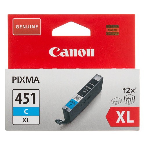 Картридж CANON CLI-451XLC, голубой [6473b001] картридж canon cli 451bk 6523b001 для canon pixma ip7240 mg6340 mg5440 черный