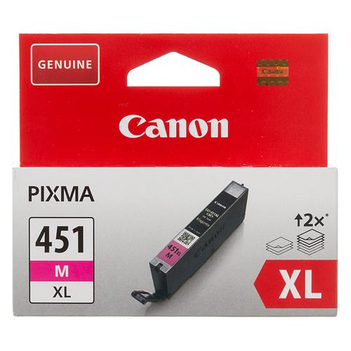 Фото - Картридж CANON CLI-451XLM, пурпурный [6474b001] картридж canon cli 451m xl для mg6340 mg5440 ip7240 пурпурный 660 страниц