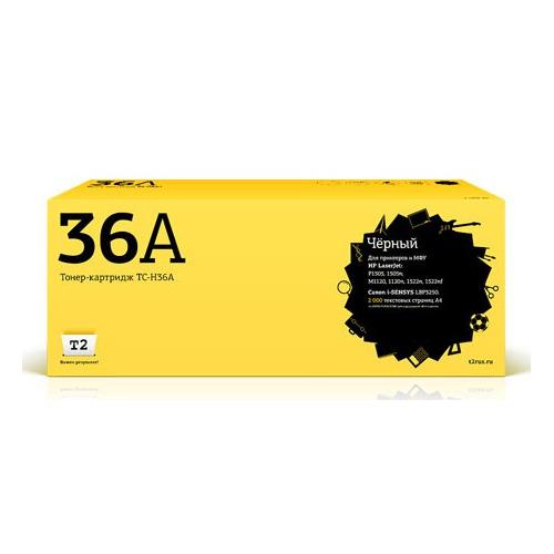 Картридж T2 CB436A, черный [tc-h36a] vilaxh cb436a compatible toner cartridges for hp 36a laserjet p1505 p1505n p1055 p1055n m1120 m1120n m1522n m1522nf printer