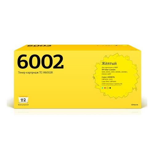 Картридж T2 Q6002A, желтый [tc-h6002r] Q6002A по цене 2 110
