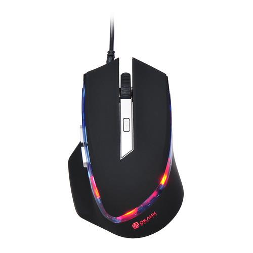 Мышь OKLICK 715G, игровая, оптическая, проводная, USB, черный [sm-8512(6d)] цена и фото
