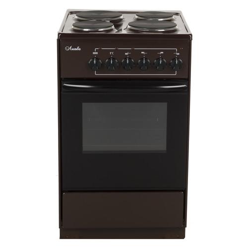 Электрическая плита ЛЫСЬВА ЭП 411, эмаль, коричневый [эп 411 brown] цена