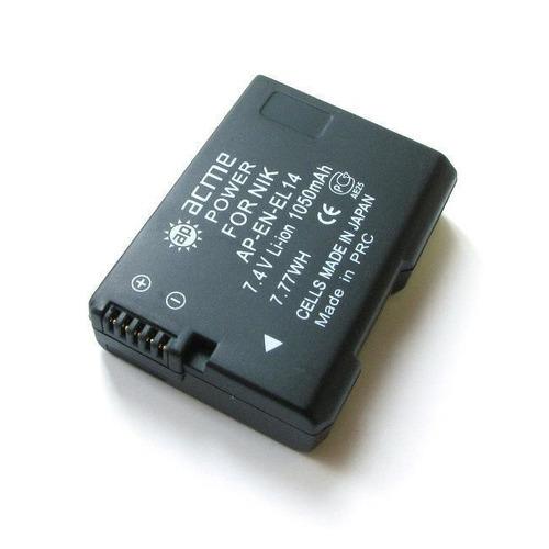 цена на Аккумулятор ACMEPOWER AP-EN-EL14, Li-Ion, 7.4В, 1050мAч, для зеркальных камер Nikon D3100/D3200/D5100/D5200 CoolPix P7000/P7100