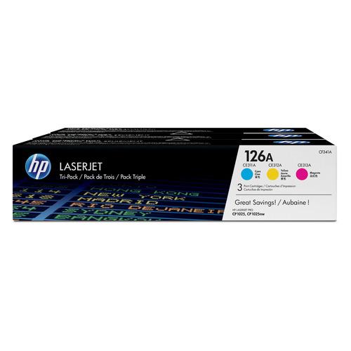 Картридж HP 126A, голубой / пурпурный / желтый [cf341a] картридж hp 305a голубой пурпурный желтый для лазерного принтера