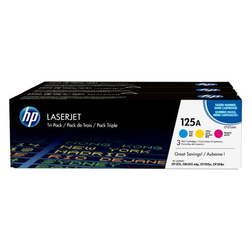 Картридж (тройная упаковка) HP CF373AM, голубой / пурпурный / желтый