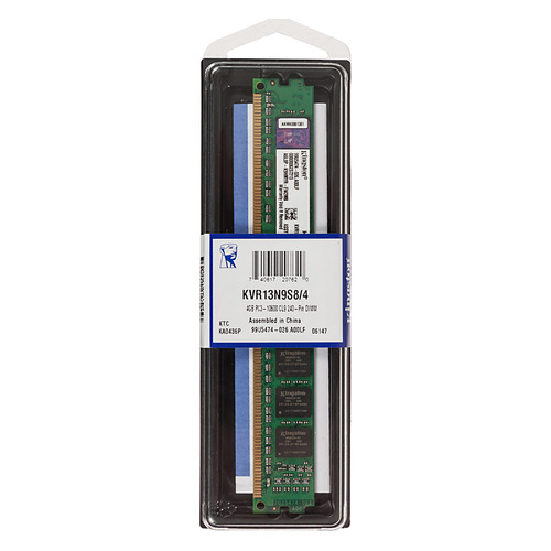 Модуль памяти KINGSTON VALUERAM KVR13N9S8/4 DDR3 - 4Гб 1333, DIMM, Ret