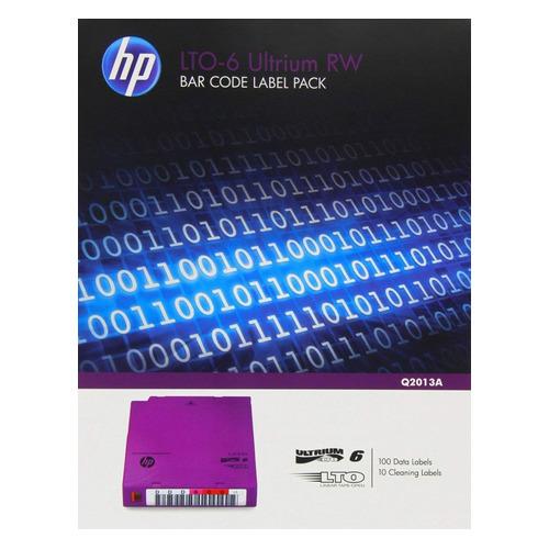 цена на Наклейка HPE LTO-6 Ultrium RW Bar Code Pack (Q2013A)