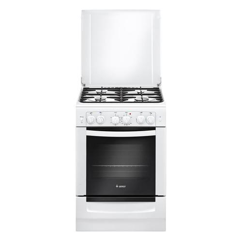 Газовая плита GEFEST 6101-02, газовая духовка, белый [пгэ 6101-02] цена