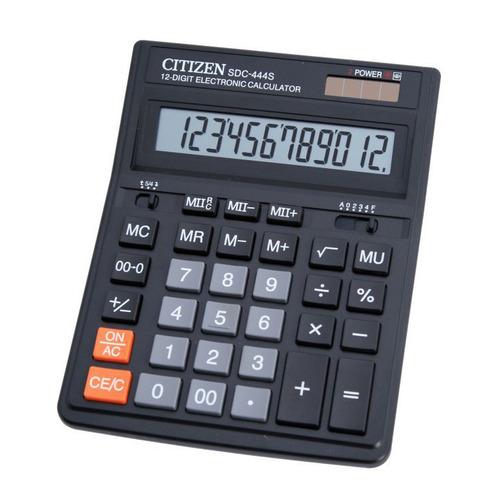 цена на Калькулятор CITIZEN SDC-444S, 12-разрядный, черный