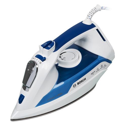 Фото - Утюг BOSCH TDA5028010, 2800Вт, белый/ синий утюг bosch tda5028020 2800вт белый фиолетовый