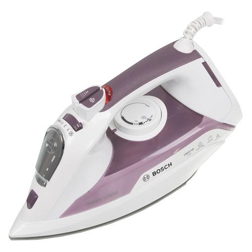 Фото - Утюг BOSCH TDA5028110, 2800Вт, белый/ розовый утюг bosch tda5028020 2800вт белый фиолетовый