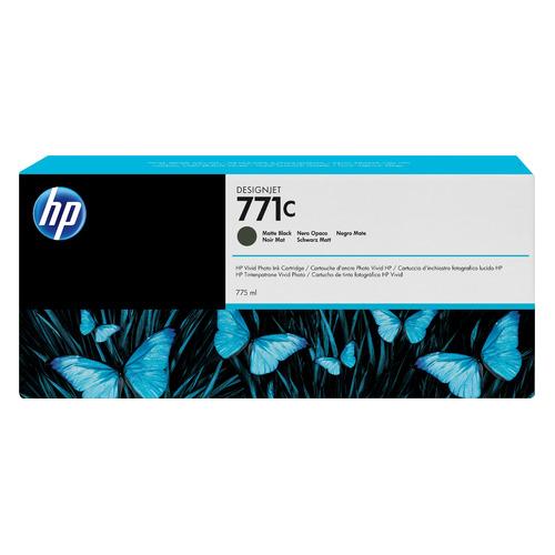 Картридж HP 771C, черный матовый [b6y07a] картридж струйный hp 771c b6y32a хроматический красный для designjet z6200 printer series 775 мл 3 шт в упаковке