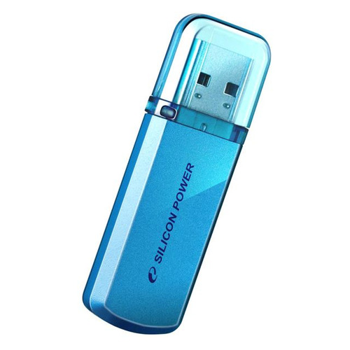 Флешка USB SILICON POWER Helios 101 64Гб, USB2.0, синий [sp064gbuf2101v1b] usb флешка silicon power helios 101 4gb зеленый