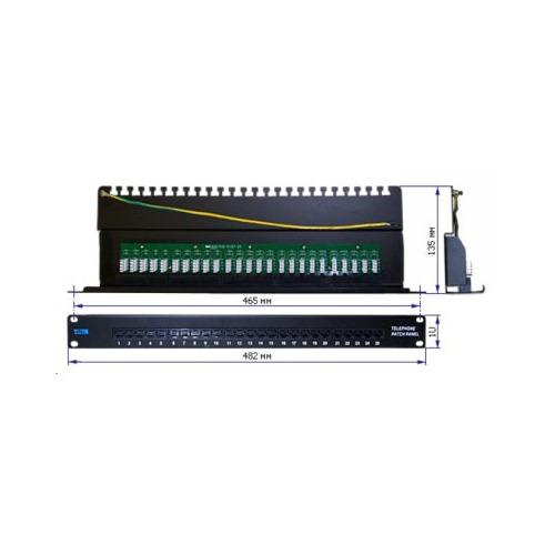 Патч-панель Lanmaster (TWT-PP25TEL45) 19 1U 25xRJ-12 UTP фальшпанель заглушка 19 1u серая nt fpanel 1u g