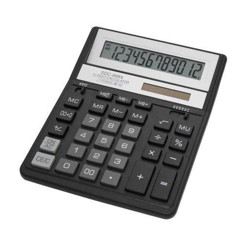 цена на Калькулятор CITIZEN SDC-888XBK, 12-разрядный, черный