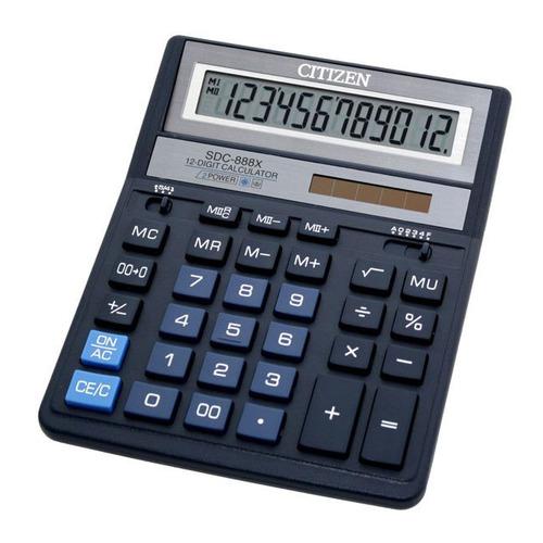 Калькулятор CITIZEN SDC-888XBL, 12-разрядный, темно-синий