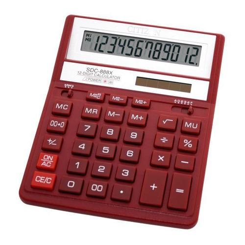 Калькулятор CITIZEN SDC-888XRD, 12-разрядный, красный chlxl красный цвет 12