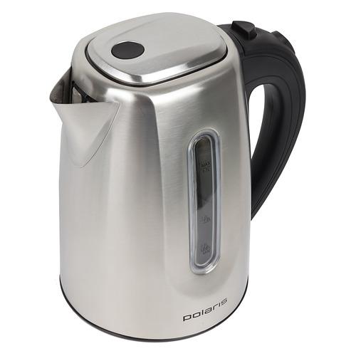 Чайник электрический POLARIS PWK 1718CAL, 2200Вт, серебристый чайник электрический polaris pwk 1719cgl 2200вт серебристый