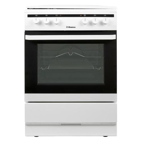 Газовая плита HANSA FCMW64040, электрическая духовка, белый