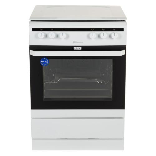 Газовая плита HANSA FCMW68020, электрическая духовка, эмалированная крышка, белый