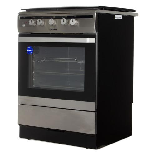 Газовая плита HANSA FCGX62020, газовая духовка, серебристый