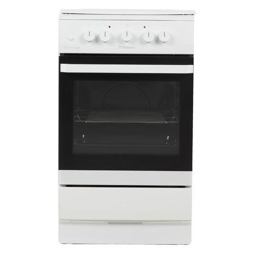 Газовая плита HANSA FCMW53010, электрическая духовка, металлическая крышка, белый