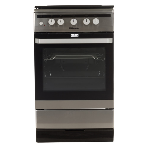 Газовая плита HANSA FCGX53020, газовая духовка, нержавеющая сталь