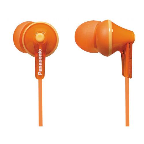 Наушники PANASONIC RP-HJE125E, 3.5 мм, вкладыши, оранжевый [rp-hje125e-d] rp hje125e w