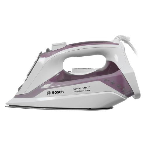 лучшая цена Утюг BOSCH TDA702821I, 2800Вт, белый/ фиолетовый