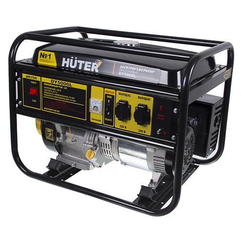 Бензиновый генератор HUTER DY5000L, 220 В, 4.5кВт [64/1/5] генератор бензиновый huter dy8000lх 3 64 1 28 15 л с 6 5 квт