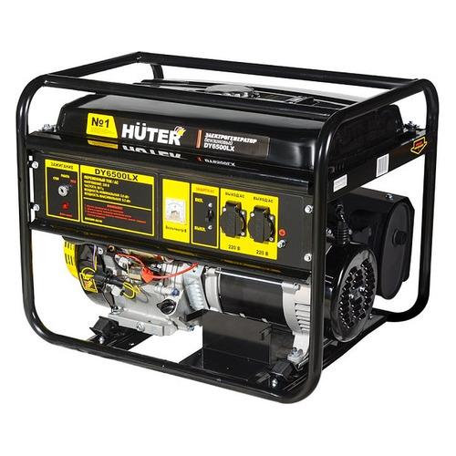 Бензиновый генератор Huter DY6500LX, 220, 5.5кВт [64/1/7] бензиновый генератор huter dy6500lx 5000 вт