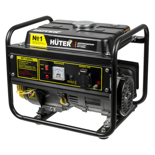 Бензиновый генератор HUTER HT1000L, 220 В, 1.1кВт [64/1/2] huter ht1000l