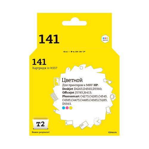 Картридж T2 141 CB337HE, многоцветный [ic-h337] hp 141 cb337he