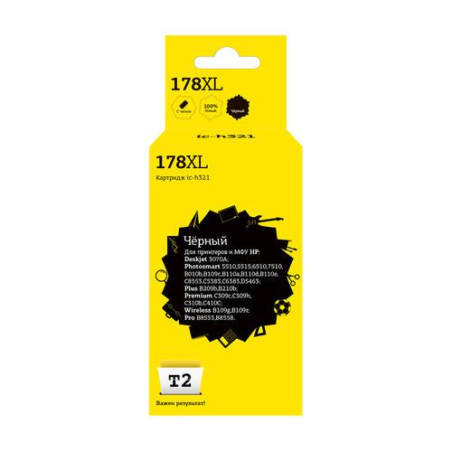 цена на Картридж T2 №178XL CB321HE/CN684HE, черный [ic-h321]
