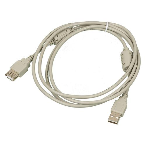Фото - Кабель-удлинитель USB2.0 USB2.0-AM-AF-1.8M-MG, USB A(m) - USB A(f), ферритовый фильтр , 1.8м, серый oxion ox3c2v20mml light grey телевизионный удлинитель