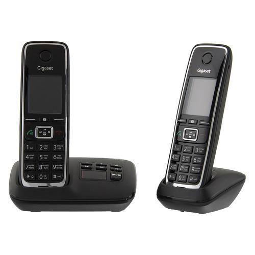 Радиотелефон GIGASET C530A DUO RUS, черный [l36852-h2532-s301] радиотелефон gigaset c530a duo черный